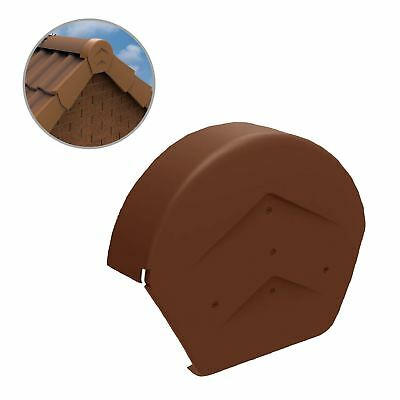 Terracotta Half Round Ridge End Cap for Dry Verge Systems, Gable Apex Roof Tiles