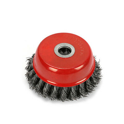 4'' Steel Wire Cup Brush Wheel For Grinder Twist Knot Tool High Quality New