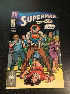 Superman#25 Incredible Condition 9.4(1988) Gammill Art!!