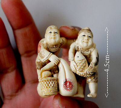 High Quality Cattle Bone Japanese Netsuke  No 2