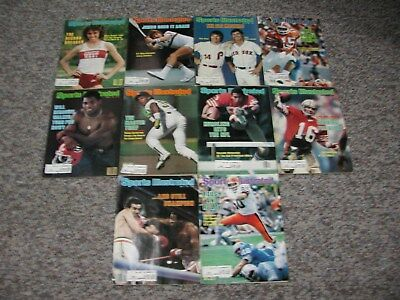 Vintage Sports Illustrated Magazines 1982 Lot of Ten