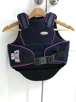 Champion Child's Medium Horse Riding Body Protector Navy with Pink Edging