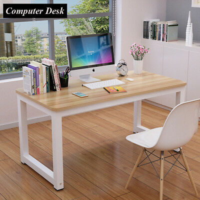 Home Office Computer Desk PC Writing Corner Table Study WorkStation Wooden Metal