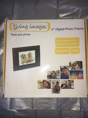 """Living Images 8"""" DIGITAL PHOTO FRAME. LCD Screen."""