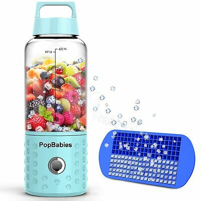 Smoothie Blender, Portable Blender USB rechargeable, PopBabies Personal Blender