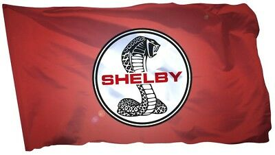 Shelby Cobra Flag Banner 3x5 ft Car Racing Man Cave Gt350 GT500 Mustang