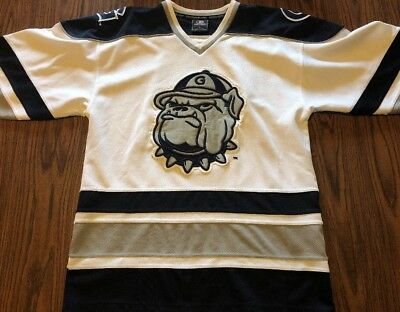 VINTAGE GEORGETOWN HOYAS Hockey Jersey L Made in USA University NCAA ... b60853730