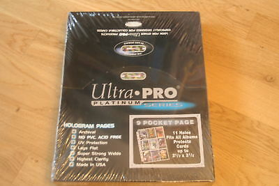 100 Pages ULTRA PRO 15-Pocket page Platinum Series Protect cards up to 2,5 x 3,5