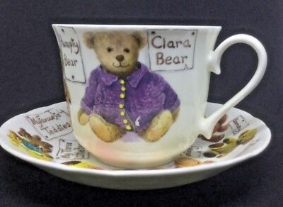 Rare - My Favourite Teddies Cup And Saucer By Roy Kirkham