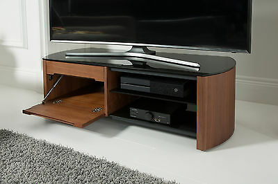 Alphason Finewoods Real Wood Veneer and Glass TV Stand 1100mm