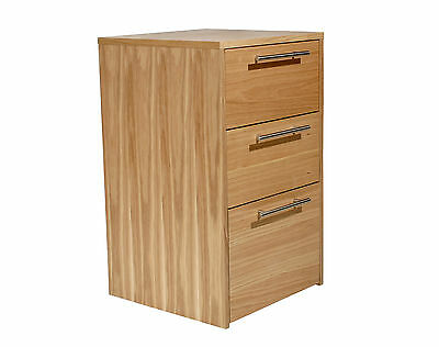 Alphason Office Thor Oak Veneer Desk Height Drawer Cabinet Pedestal AW6323-HP
