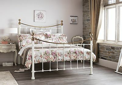 Clara Metal Bed Frame Victorian Antique Style Various Sizes