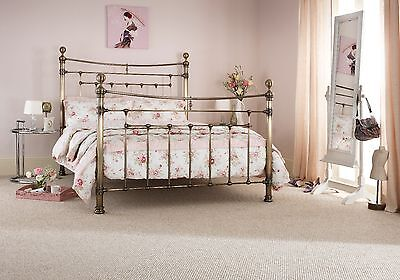 Arthur Metal Bed Frame Antique Brass Victorian Antique Style Various Sizes
