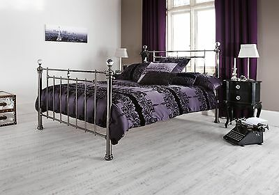 Elsie Metal Bed Frame Victorian Antique Style Various Sizes and Colours