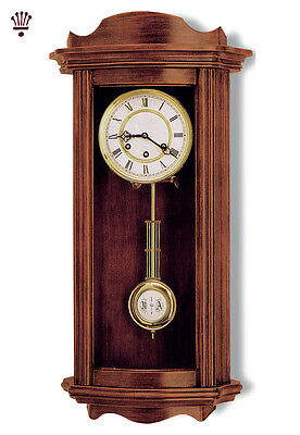 BilliB Medway Wall Clock Mechanical Pendulum Chime Key Wound Walnut Classic