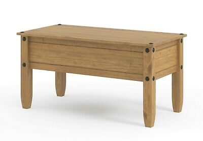 Corona Coffee Table 1 Drawer Solid Medium Wood Mexican Pine