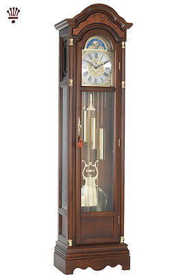 BilliB Remington Grandfather Clock Chime Moondial Seconds Finger Walnut Classic