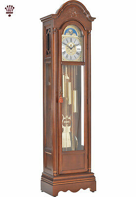 BilliB Cavendish Grandfather Clock Mechanical Moondial Chime Silencing Walnut