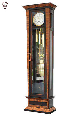 BilliB Cosmopolitan Grandfather Clock Mechanical Moondial Chime Zebrano Rosewood