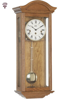 BilliB Axford Wall Clock Mechanical Westminster Single Chime Light Oak Classic