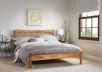 Agna Solid Wood Bed Frame Shaker Style Various Sizes and Colours
