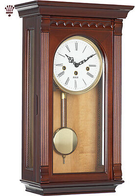 BilliB Clyde Wall Clock Mechanical Pendulum Chime Key Wound Walnut Classic