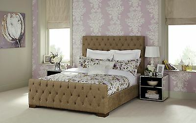 Esme Fabric Chesterfield Bed Frame Modern Various Sizes and Colours
