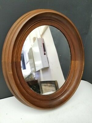 Victorian Two Toned Walnut Oval Mirror 1 Circa 1880s