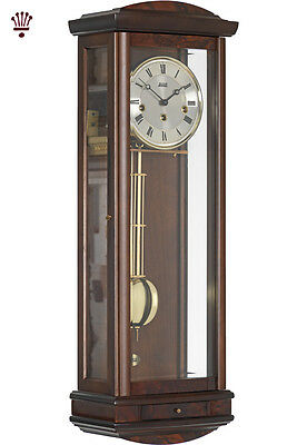 BilliB Abbeydale Wall Clock Mechanical Pendulum Chime Silencing Walnut Classic