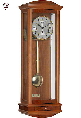BilliB Abbeydale Wall Clock Mechanical Pendulum Chime Silencing Yew Classic