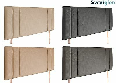 Deluxe Berlin Linen Fabric Headboard Various Sizes and Colours Plus Swatch
