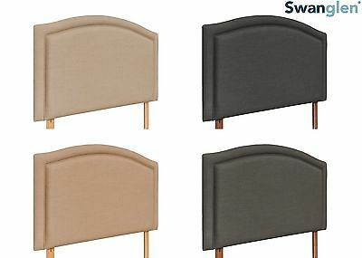 Deluxe Como Linen Fabric Headboard Various Sizes and Colours Plus Swatch