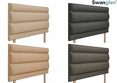 Deluxe Amari Linen Fabric Headboard Various Sizes and Colours Plus Swatch
