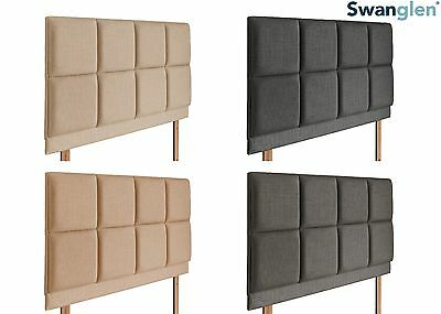 Deluxe Lucia Linen Fabric Headboard Various Sizes and Colours Plus Swatch