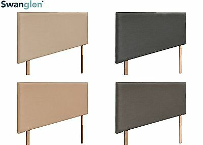 Deluxe Tuscany Linen Fabric Headboard Various Sizes and Colours Plus Swatch