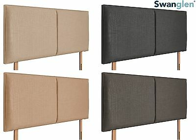Deluxe Boston Linen Fabric Headboard Various Sizes and Colours Plus Swatch