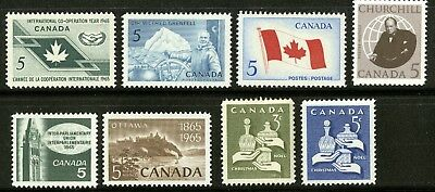 Canada   1965   Unitrade # 437-444   Complete Mint Never Hinged Year Set