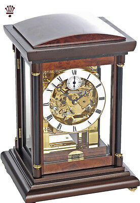 BilliB Bradley Mantel Clock Mechanical Triple Chime Silencing Walnut Finish