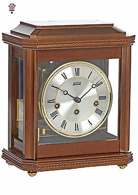 BilliiB Birchgrove Mantel Clock Mechanical Westminster Chime Walnut Classic