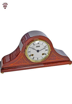 BilliB Springwood Mantel Clock Napoleon Mechanical Bell Chime Piano Mahogany