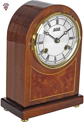 BilliB Rosewood Mantel Clock Mechanical Hourly Bell Chime Piano Mahogany