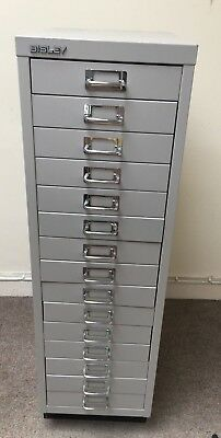Bisley  Grey Steel Filing Cabinet 15 Drawers