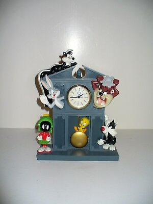 Warner Brothers Studio Store Mantel Clock 1997