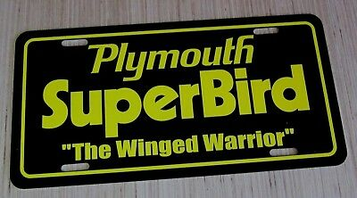 1970 Plymouth Superbird license plate car tag 70 winged Road Runner Super BIRD