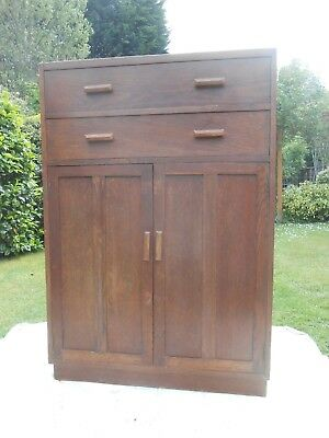 Vintage 1940/50's Utility tallboy chest of drawers, top in need of restoration