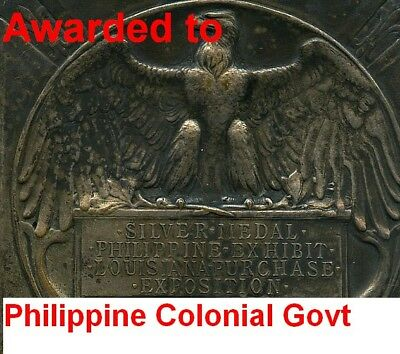 Unique 1904 St Louis Medal To Philippine Government- Sold Heritage 2014 @$1100
