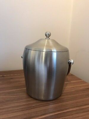 New Stainless Steel Ice Bucket With Handle & Tongs  - GREAT QUALITY