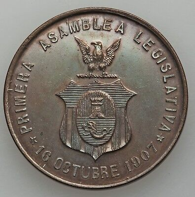 Philippines Usa 1907 Medal-Rare-Honeycutt/basso Plate Coin-Sold Heritage $458