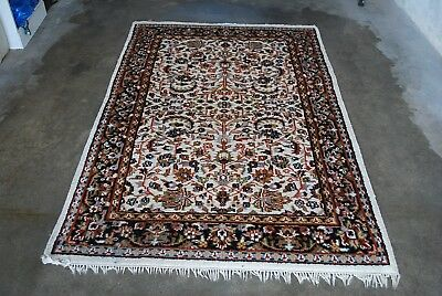 VINTAGE Rug carpet Teppich Turkish OR indian handmade wool 193cm - 126cm