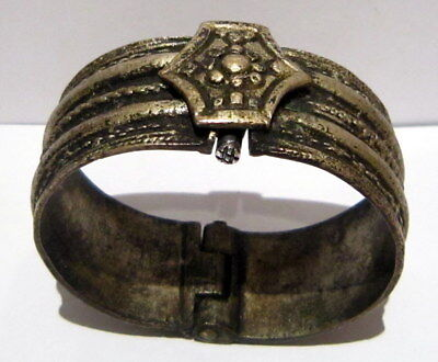 Post Medieval Or Byzantine Silver Two Parts Bangle/Artifact Ancient Bracelet#34B
